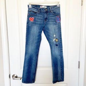LEVIS • 511 Slim Distressed Patchwork Jeans